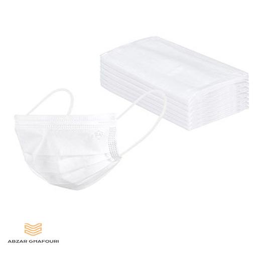 White three-layer mask