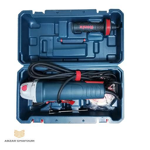 مینی فرز 1100 وات دیمردار رونیکس مدل 3100K در جعبه از بالا